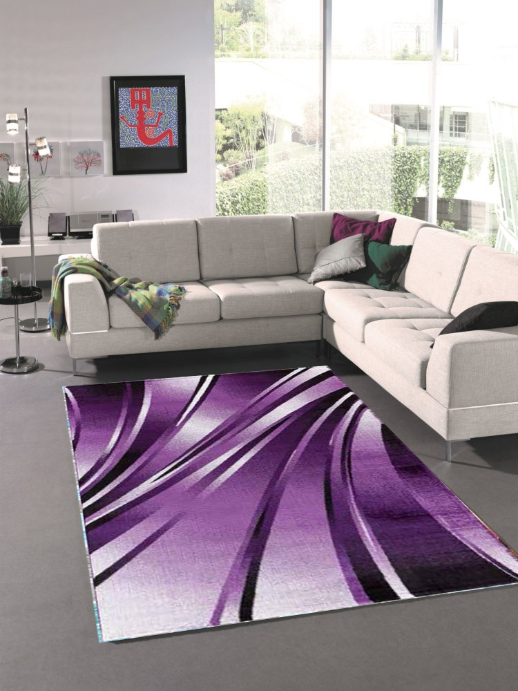 tapis tendance vintage violet madison. Black Bedroom Furniture Sets. Home Design Ideas