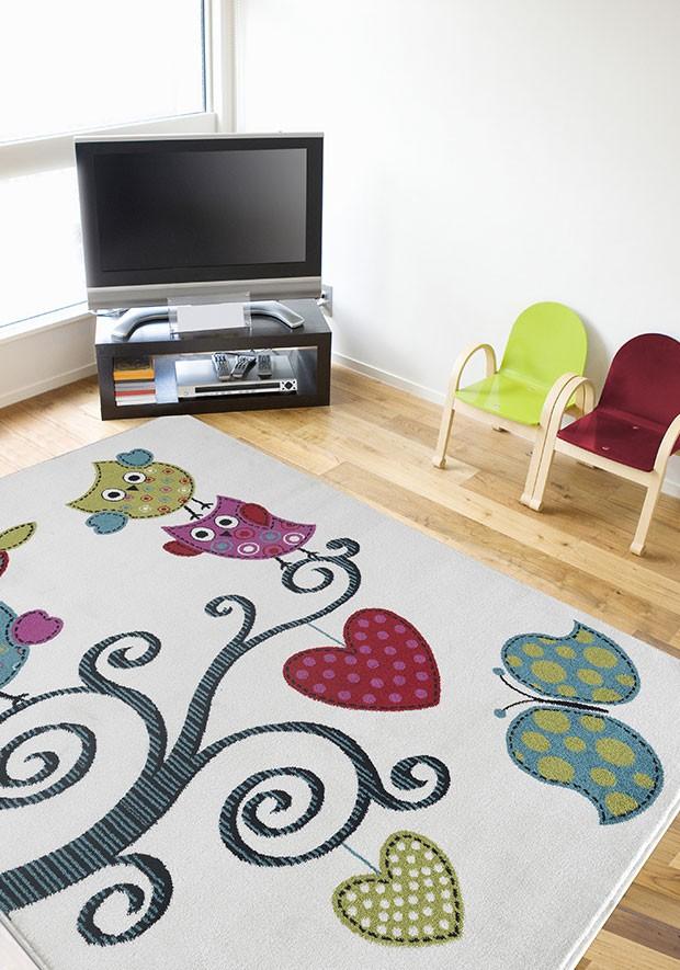 tapis pour chambre d 39 enfant cr me birdy. Black Bedroom Furniture Sets. Home Design Ideas