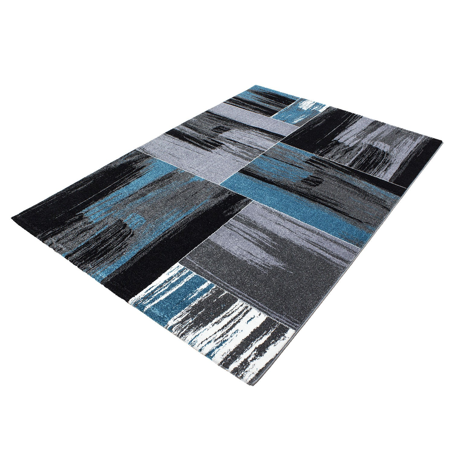 tapis vintage blue pour salon crystal. Black Bedroom Furniture Sets. Home Design Ideas