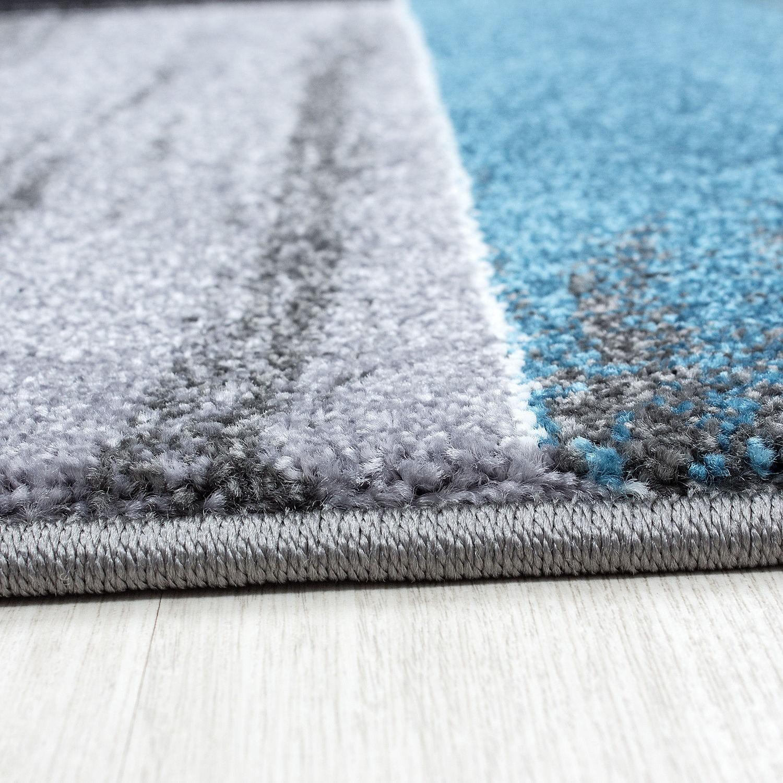 tapis vintage blue pour salon crystal. Black Bedroom Furniture Sets. Home Design Ideas