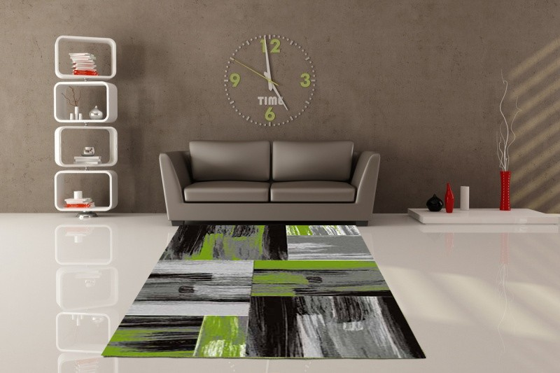 tapis vintage vert pour salon crystal. Black Bedroom Furniture Sets. Home Design Ideas