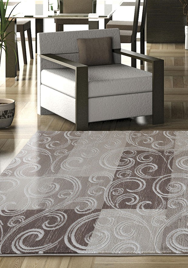 Tapis de salon en polypropyl ne brun marron neo pas cher for Tapis decoratif pour salon
