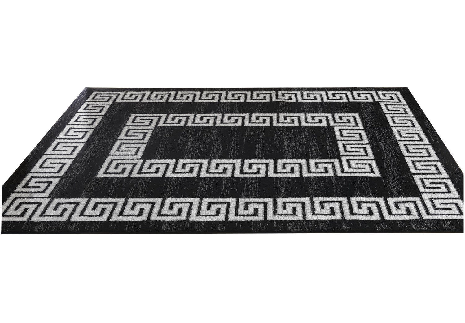 tapis motifs baroque noir de salon jericho pas cher. Black Bedroom Furniture Sets. Home Design Ideas