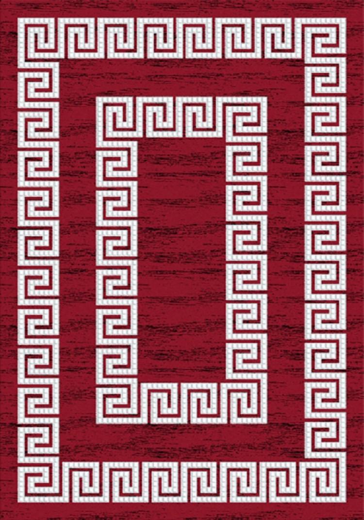 Tapis motifs baroque rouge de salon jericho pas cher - Salon baroque pas cher ...