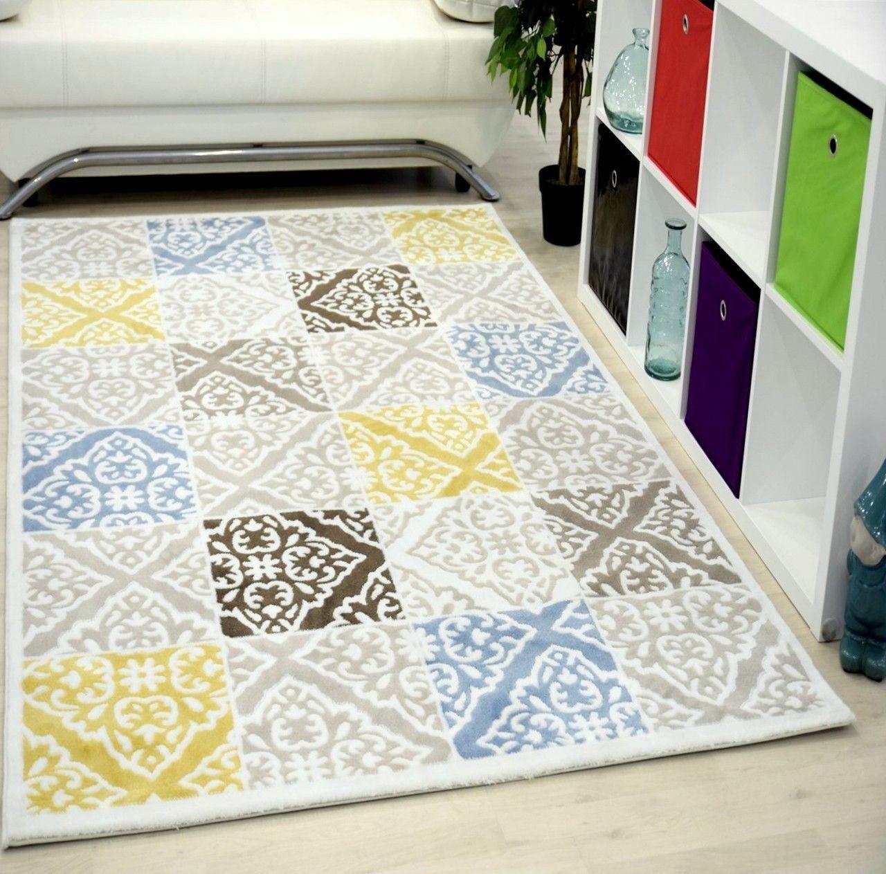 tapis orange multi pour salon en acrylique gravel pas cher. Black Bedroom Furniture Sets. Home Design Ideas