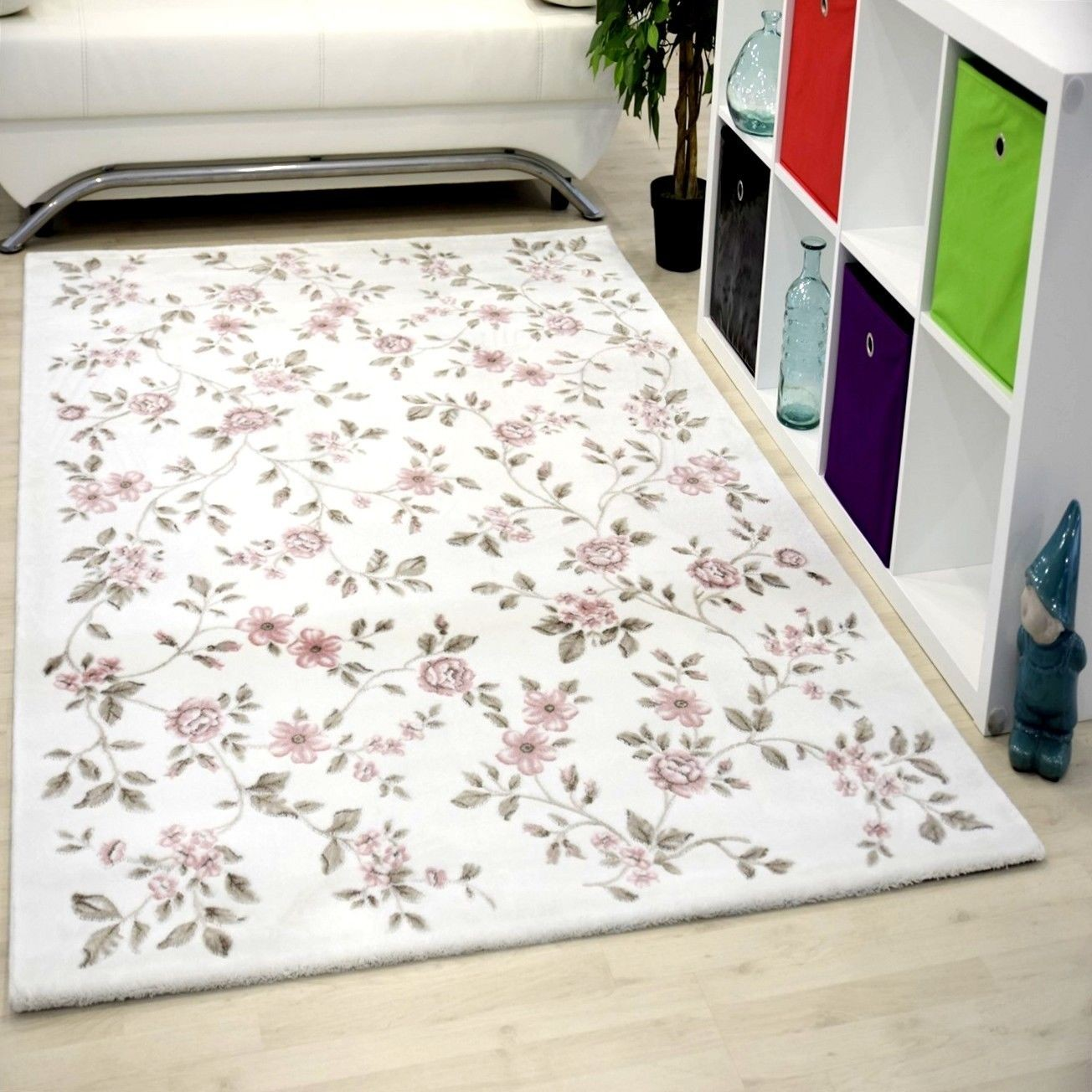 Tapis de salon courtes m ches rose gusto pas cher - Grand tapis de salon ...