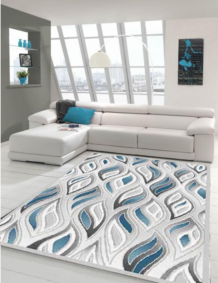 Carrelage Design tapis patchwork pas cher : PIu00c8CE u0026gt; Tapis salon u0026gt; Tapis plat patchwork en acrylique blue Mirage