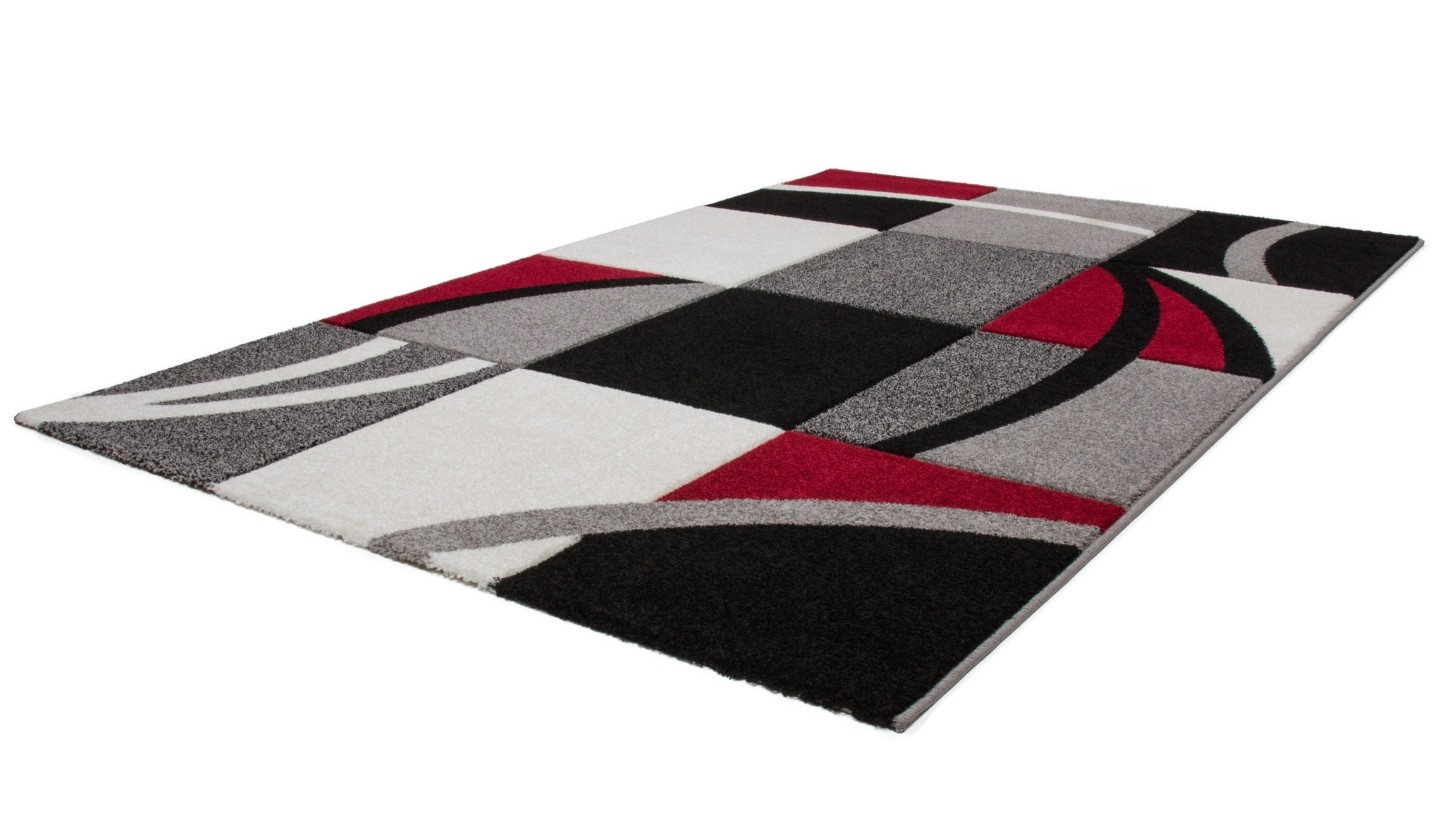tapis shaggy effet d coloris noir uni d coration tapis. Black Bedroom Furniture Sets. Home Design Ideas
