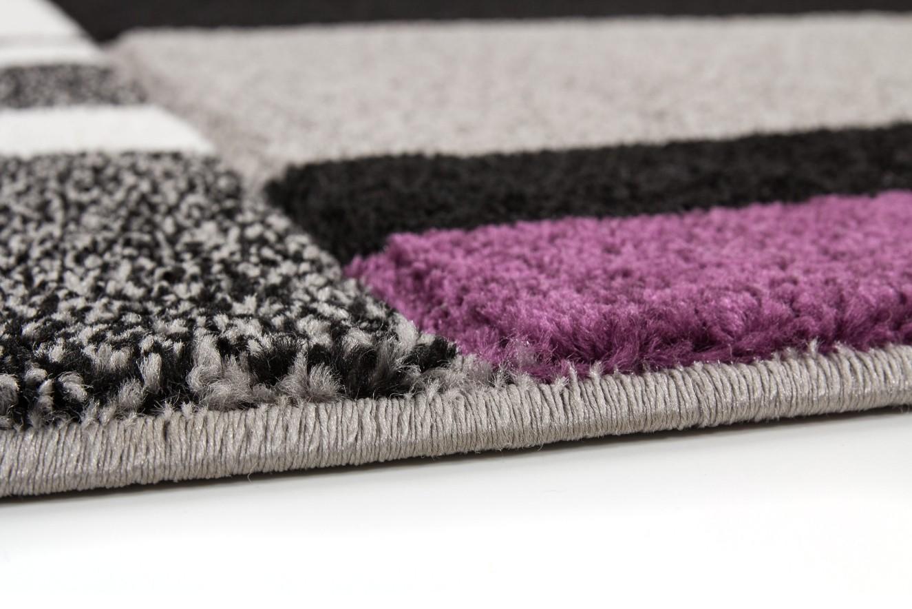 Tapis effet 3d design coloris violette helvet pas cher