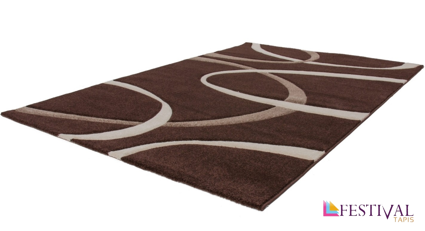tapis effet 3d look tendance et design marron elegantpas cher. Black Bedroom Furniture Sets. Home Design Ideas