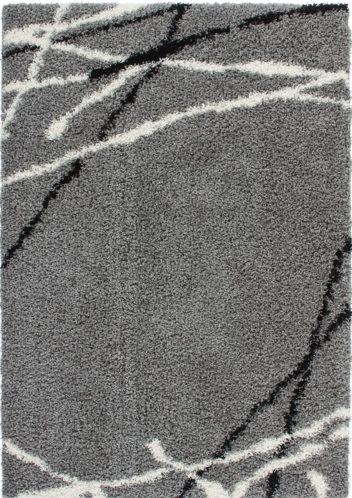 tapis shaggy moderne avec motif coloris gris jiva pas cher. Black Bedroom Furniture Sets. Home Design Ideas