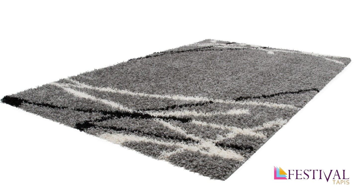 Tapis de cuisine rouge et gris cheap tapis shaggy with for Tapis de cuisine rouge et gris