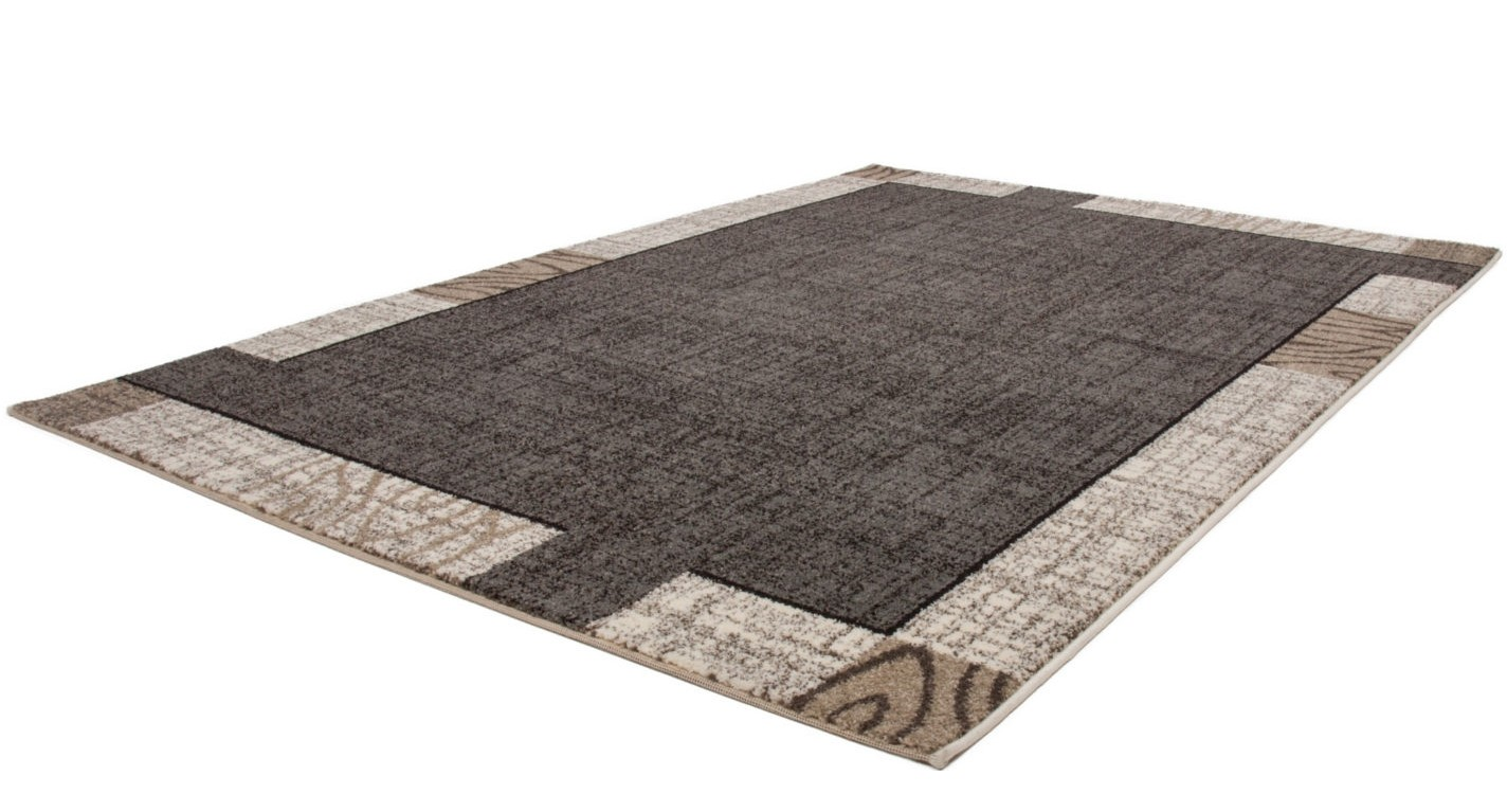 tapis patchwork ton de gris marron beige lord pas cher. Black Bedroom Furniture Sets. Home Design Ideas
