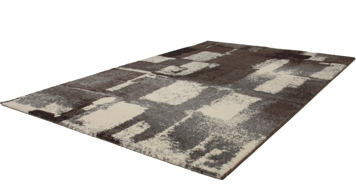 tapis patchwork ton de gris silver lord pas cher. Black Bedroom Furniture Sets. Home Design Ideas