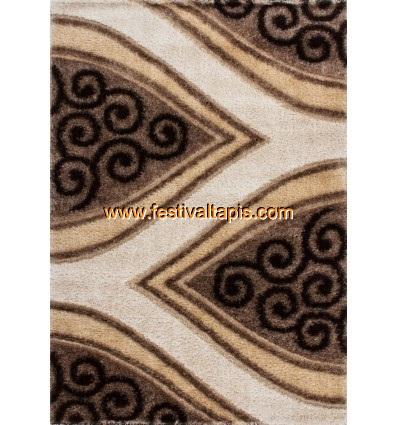 Tapis Shaggy parsémé de lurex coloris brun ,tapis moderne, tapis moderne pas cher, tapis modernes, tapis moderne design, les tap