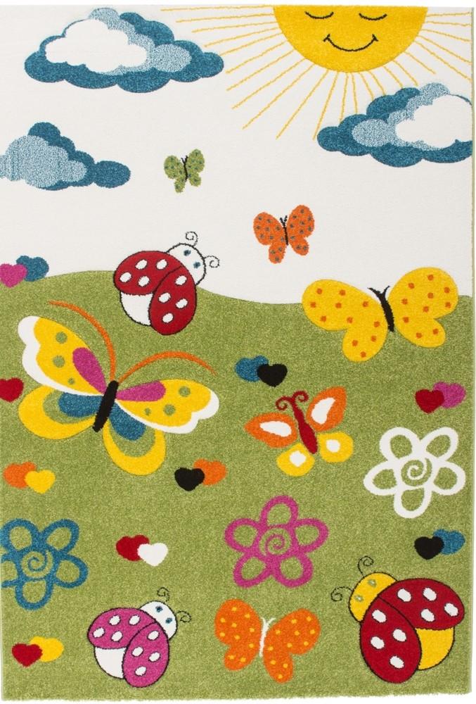 tapis pour enfant en polypropyl ne vert creme dixi pas cher. Black Bedroom Furniture Sets. Home Design Ideas
