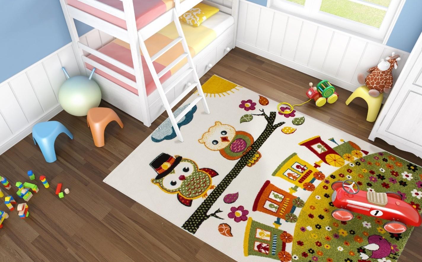tapis chambre fille hibou. Black Bedroom Furniture Sets. Home Design Ideas