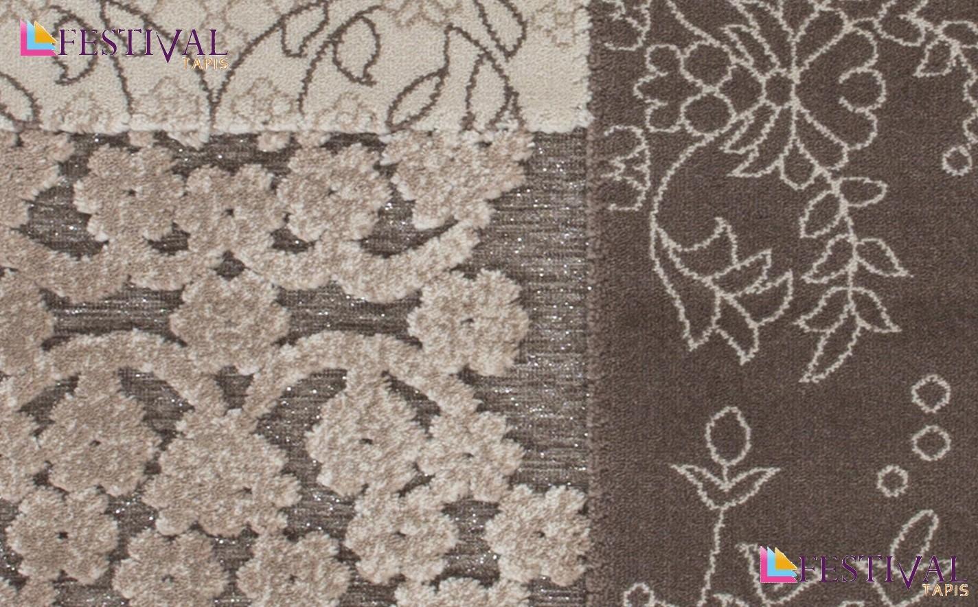 tapis motifs baroque classique brun marron jericho pas cher. Black Bedroom Furniture Sets. Home Design Ideas
