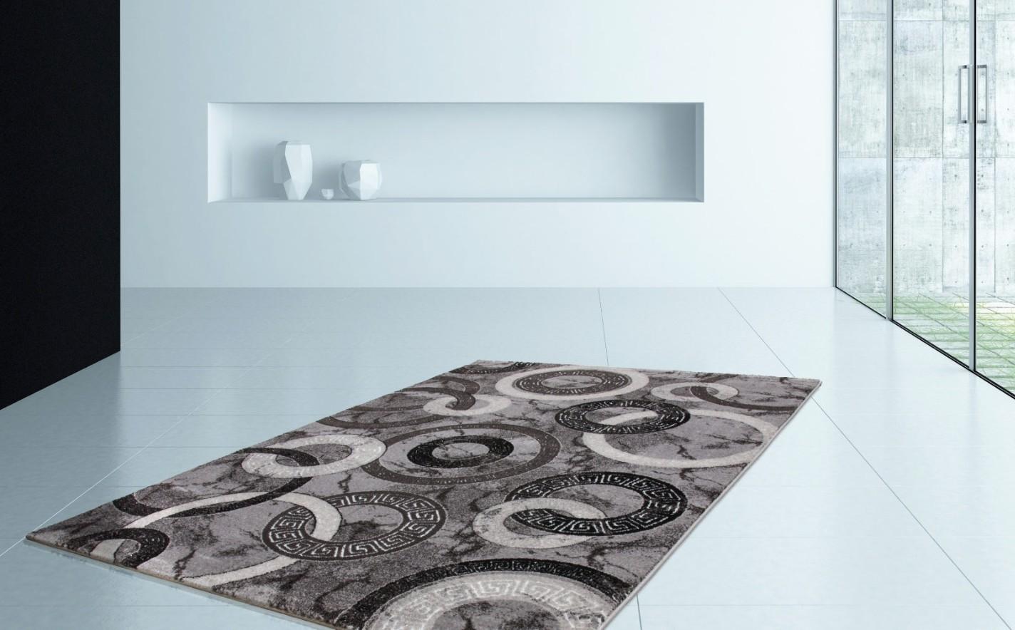 tapis contemporain bleu. Black Bedroom Furniture Sets. Home Design Ideas