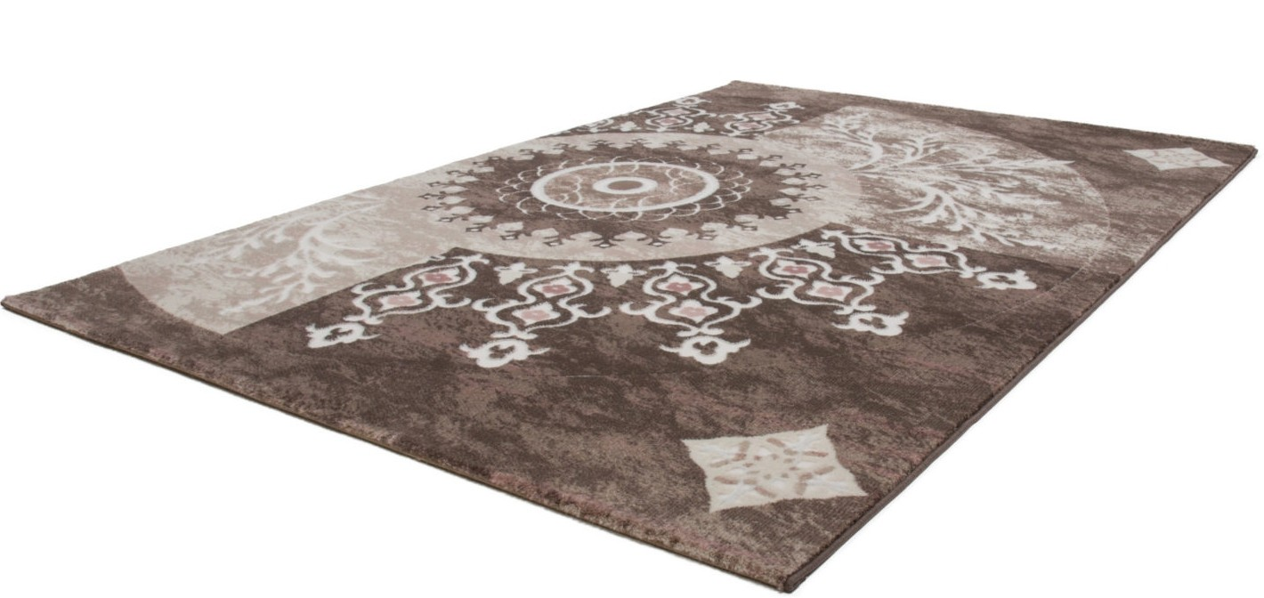 Tapis beige cream pour salon en acrylique et polypropyl ne for Tapis salon colore pas cher