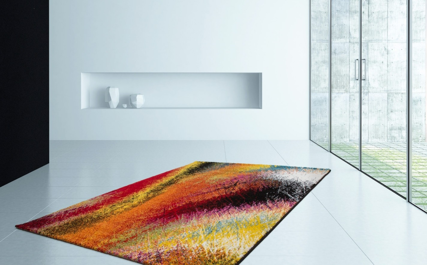 Tapis design pour salon moderne multicolore south pas cher for Tapis salon rouge