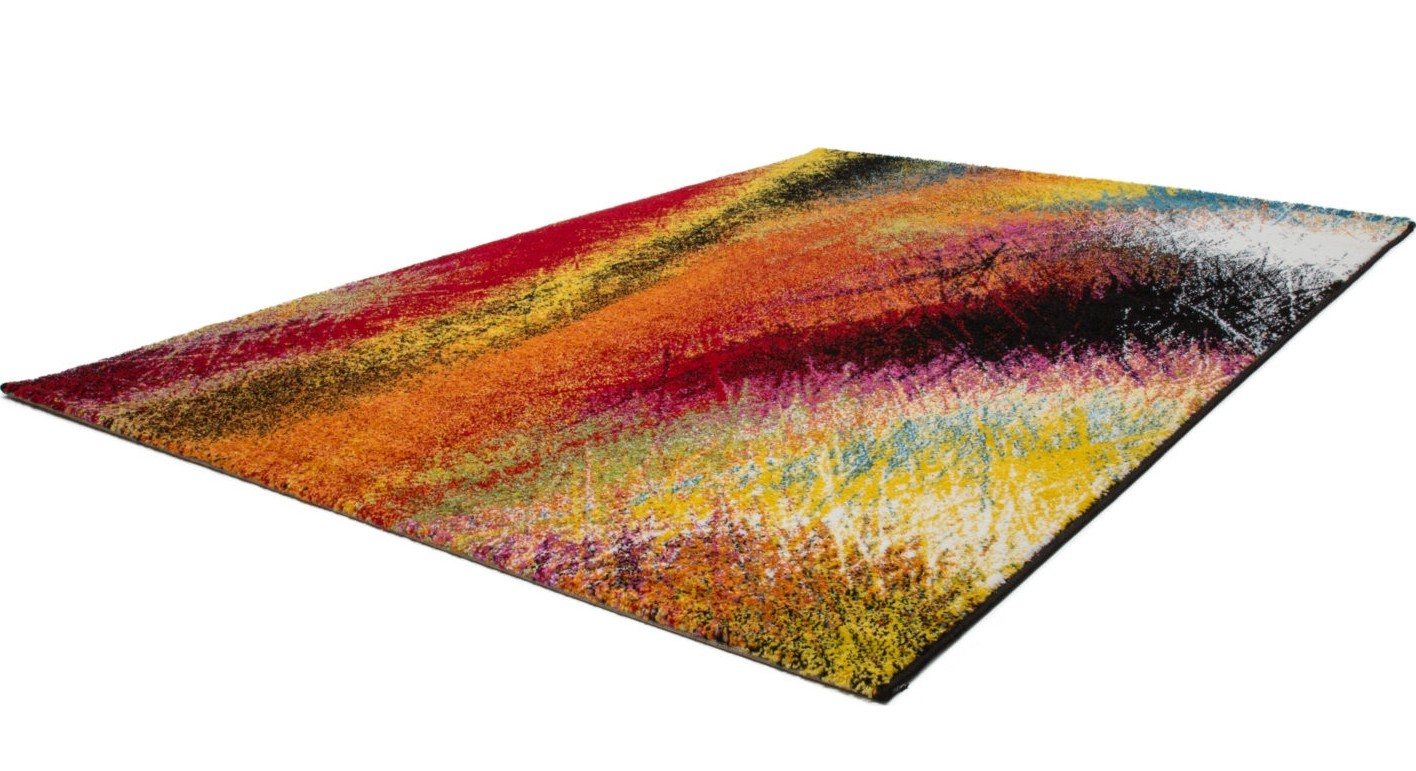 Tapis Design Pour Salon Moderne Multicolore South Pas Cher