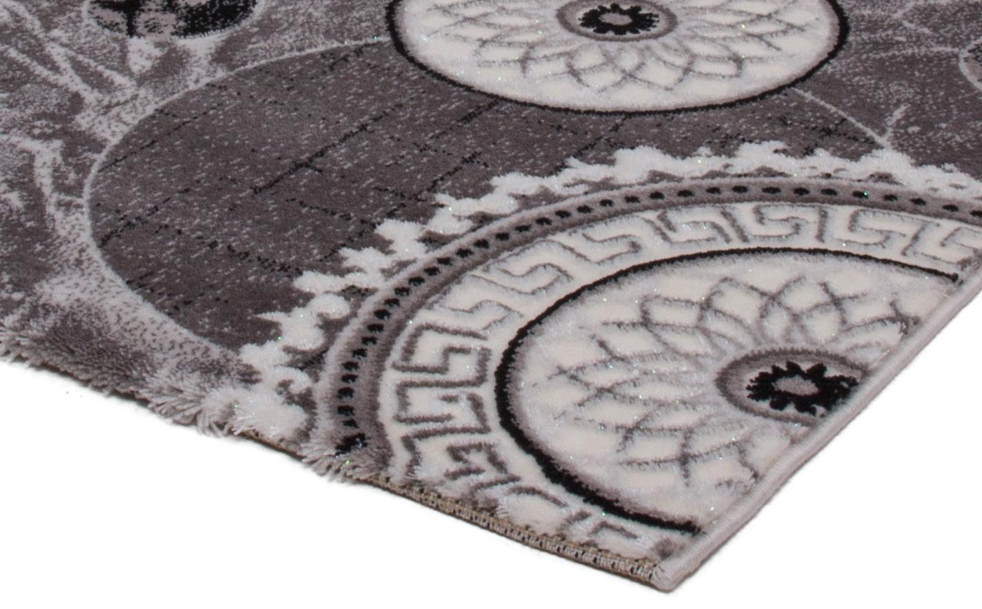 Tapis gris contemporain d'intérieur firenze pas cher