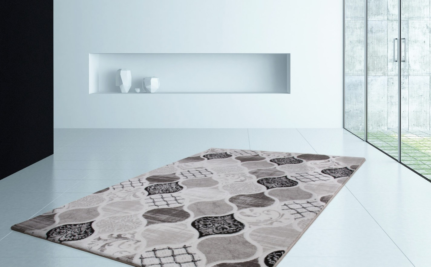 Paillasson interieur design elegant tapis gris clair pas Grand tapis clair