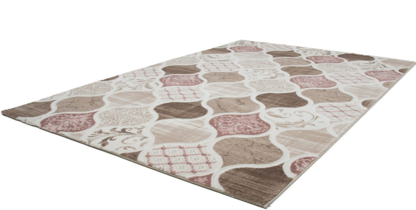 Tapis rose contemporain d 39 int rieur firenze pas cher - Grand tapis salon pas cher ...
