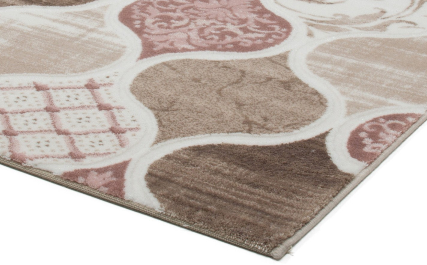 Tapis rose contemporain d 39 int rieur firenze pas cher for Tres grand tapis pas cher