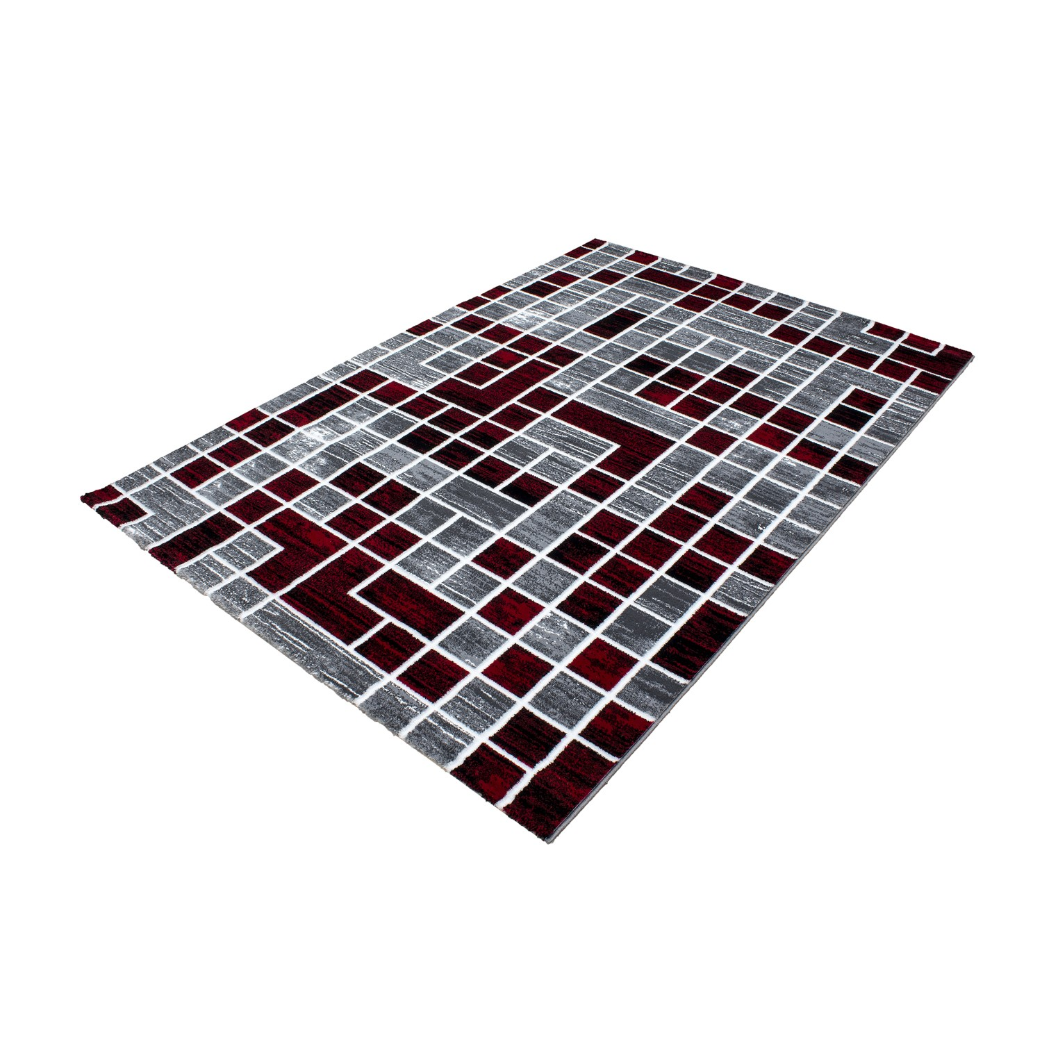 Tapis de salon en polypropyl ne rouge neo pas cher for Tapis salon colore pas cher
