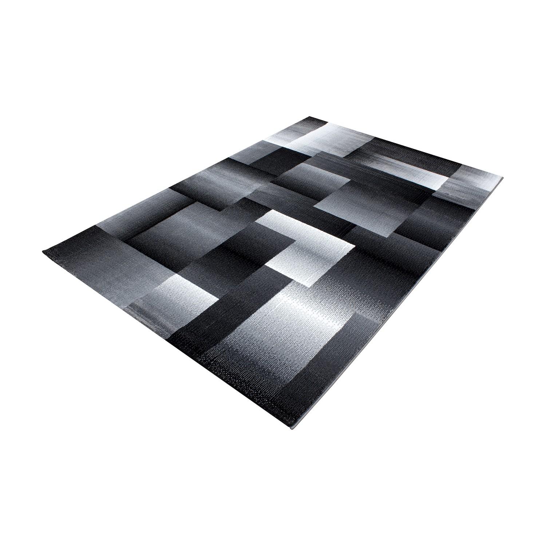 tapis design moderne coloris noir chic. Black Bedroom Furniture Sets. Home Design Ideas