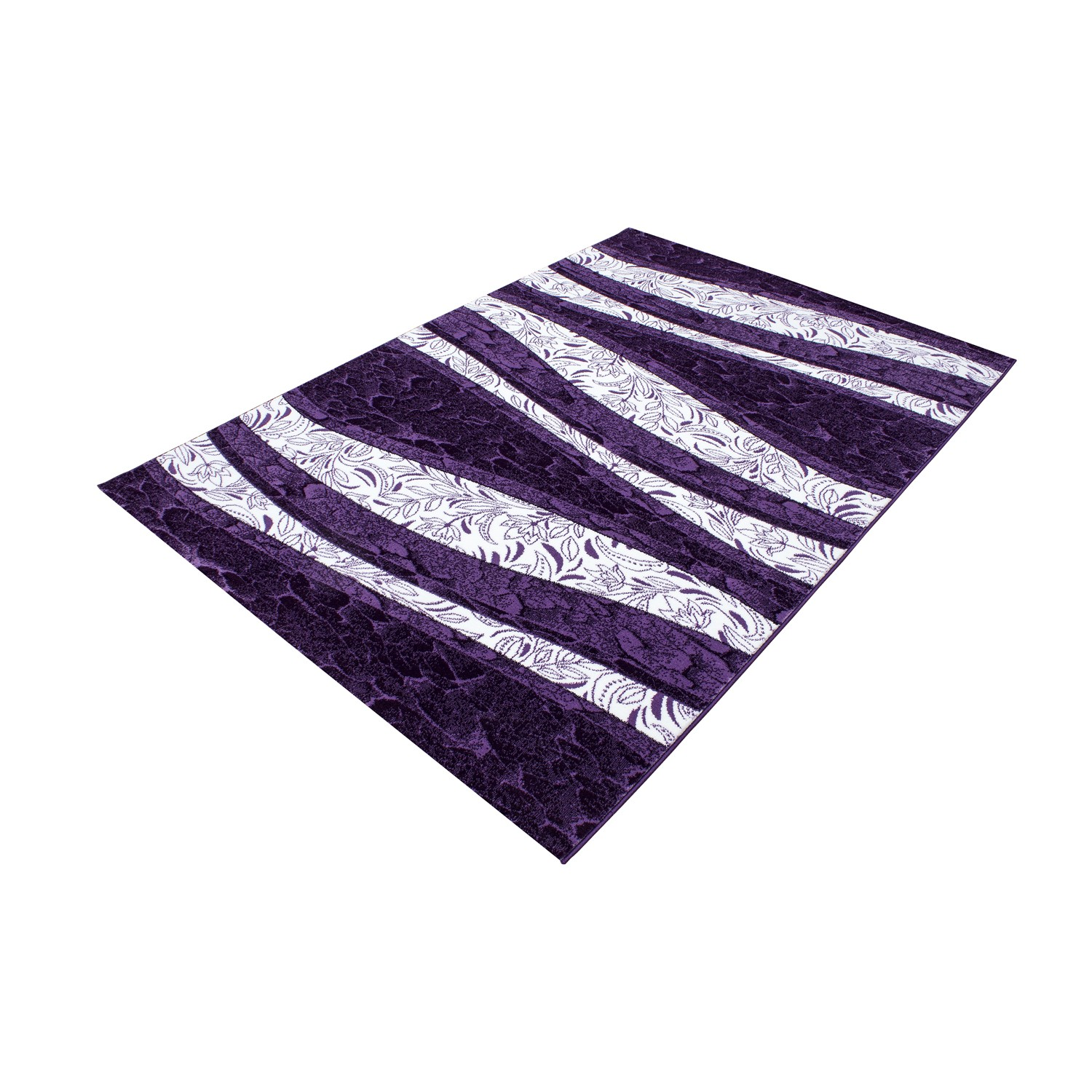 tapis design moderne coloris violette chic. Black Bedroom Furniture Sets. Home Design Ideas