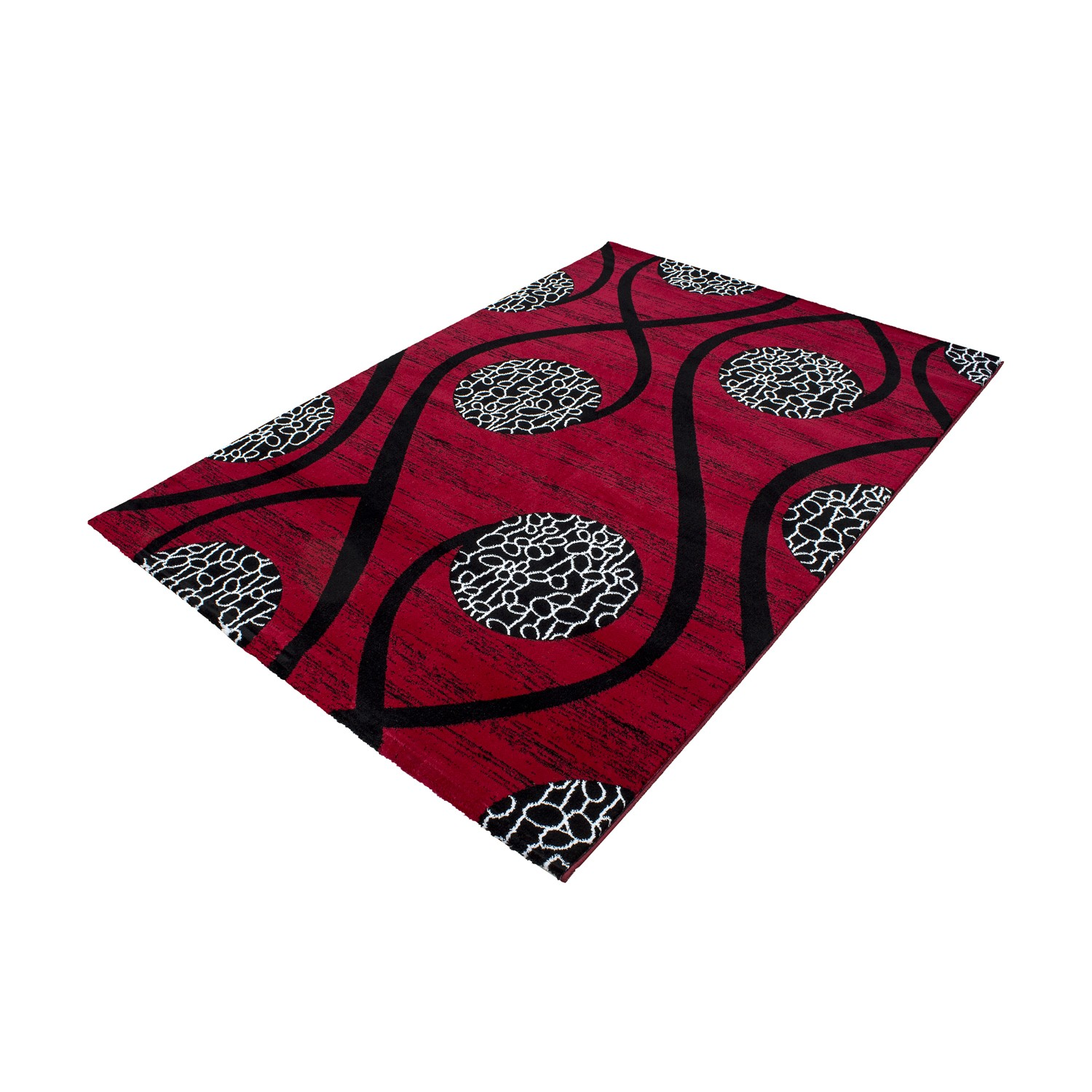 Tapis design moderne coloris rouge chic Tapis moderne design