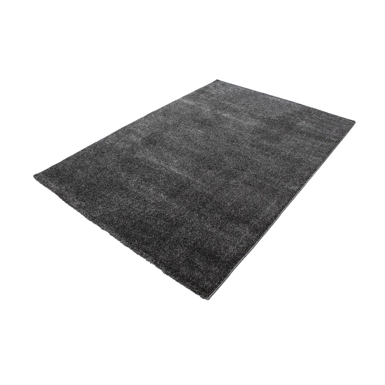 tapis d 39 int rieur uni gris fonc alvin pas cher