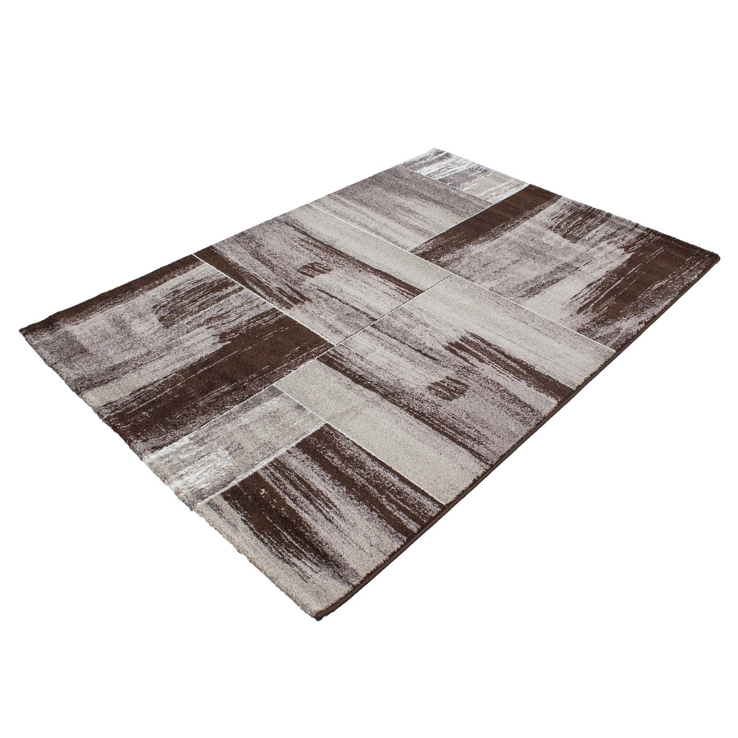 tapis vintage brun marron pour salon crystal. Black Bedroom Furniture Sets. Home Design Ideas