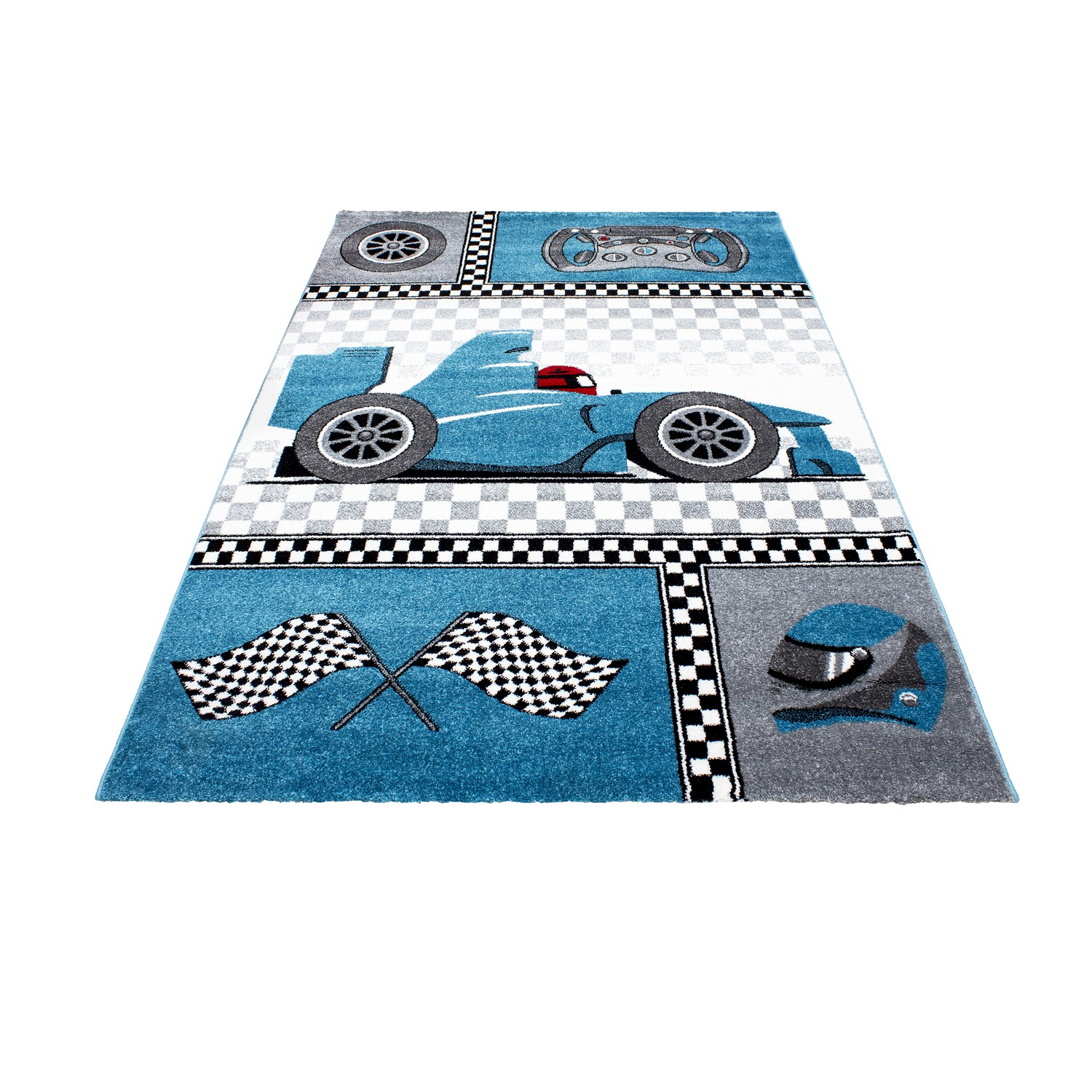 tapis pour chambre de gar on blue et gris speed voiture f1. Black Bedroom Furniture Sets. Home Design Ideas