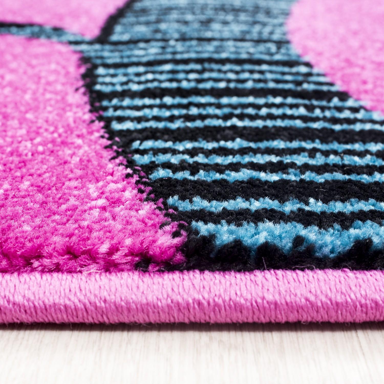 tapis pour chambre d'enfant rose birdy-2