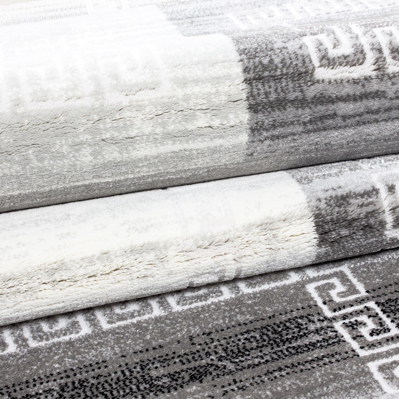 Tapis de salon gris en acrylique original samba 3 pas cher