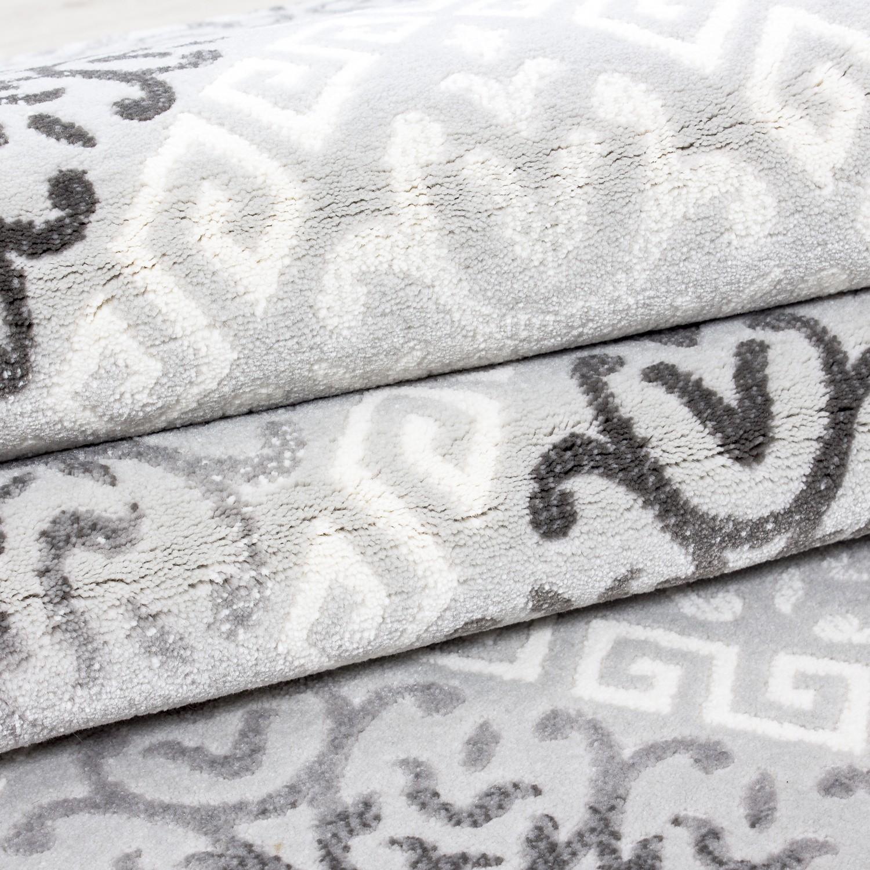 Tapis de salon gris en acrylique samba 5 pas cher