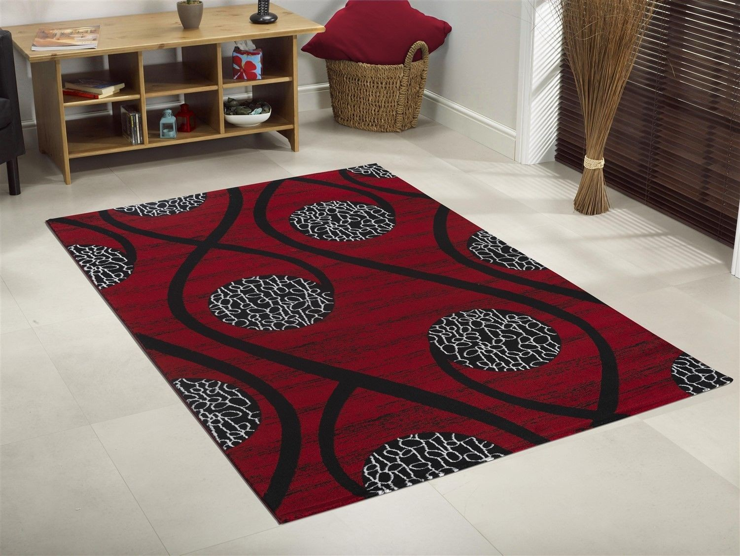 Top Tapis design moderne coloris rouge CHIC RE02