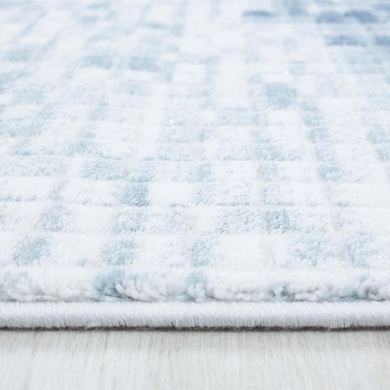 Tapis vintage blue avec lurex et effet 3d lilo 2 pas cher for Petit tapis rond pas cher