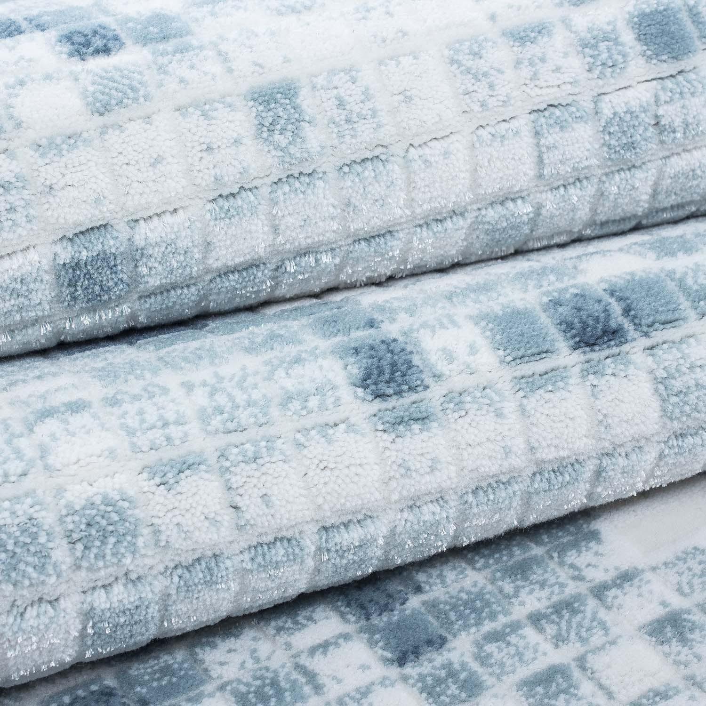 tapis vintage blue avec lurex et effet 3d lilo 2 pas cher. Black Bedroom Furniture Sets. Home Design Ideas