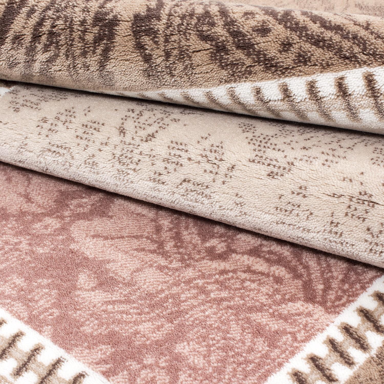 tapis vintage rose avec lurex et effet 3d lilo 3 pas cher. Black Bedroom Furniture Sets. Home Design Ideas