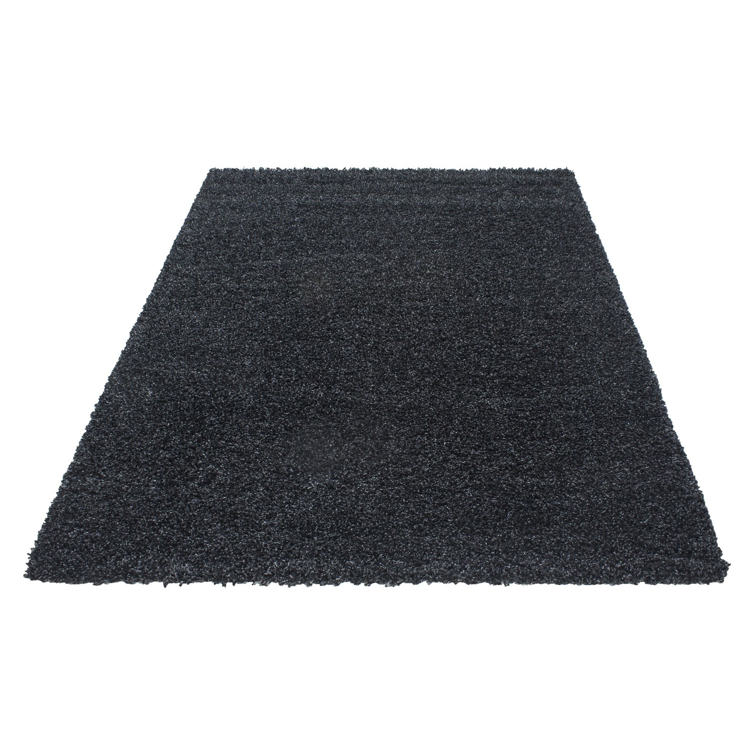 Tapis shaggy moderne tapis design uni en polypropyl ne vasco for Tapis salon colore pas cher