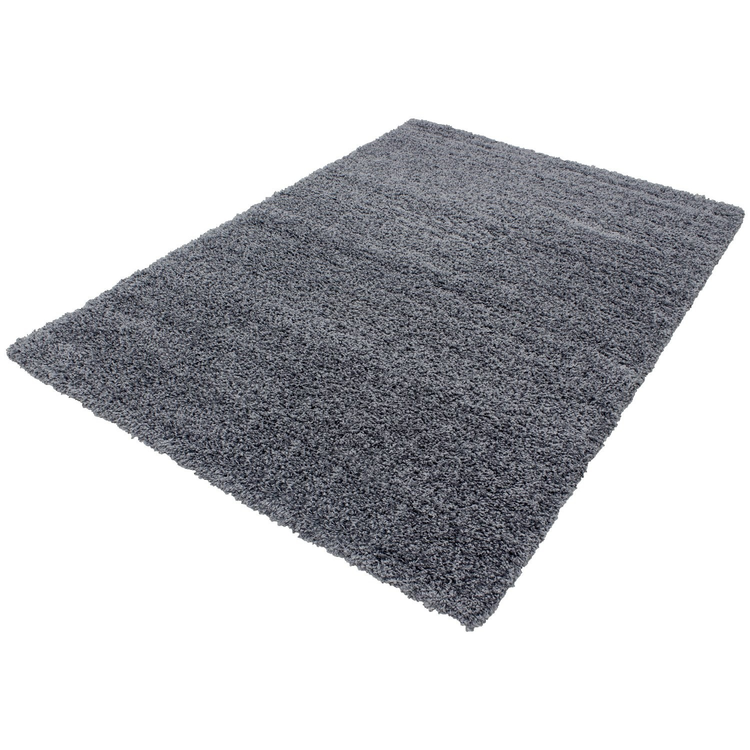 tapis shaggy gris moderne tapis design uni en polypropyl ne vasco. Black Bedroom Furniture Sets. Home Design Ideas