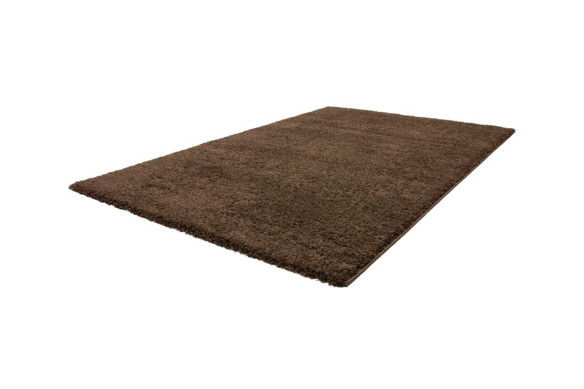 tapis shaggy brun moderne tapis design uni en polypropyl ne vasco. Black Bedroom Furniture Sets. Home Design Ideas