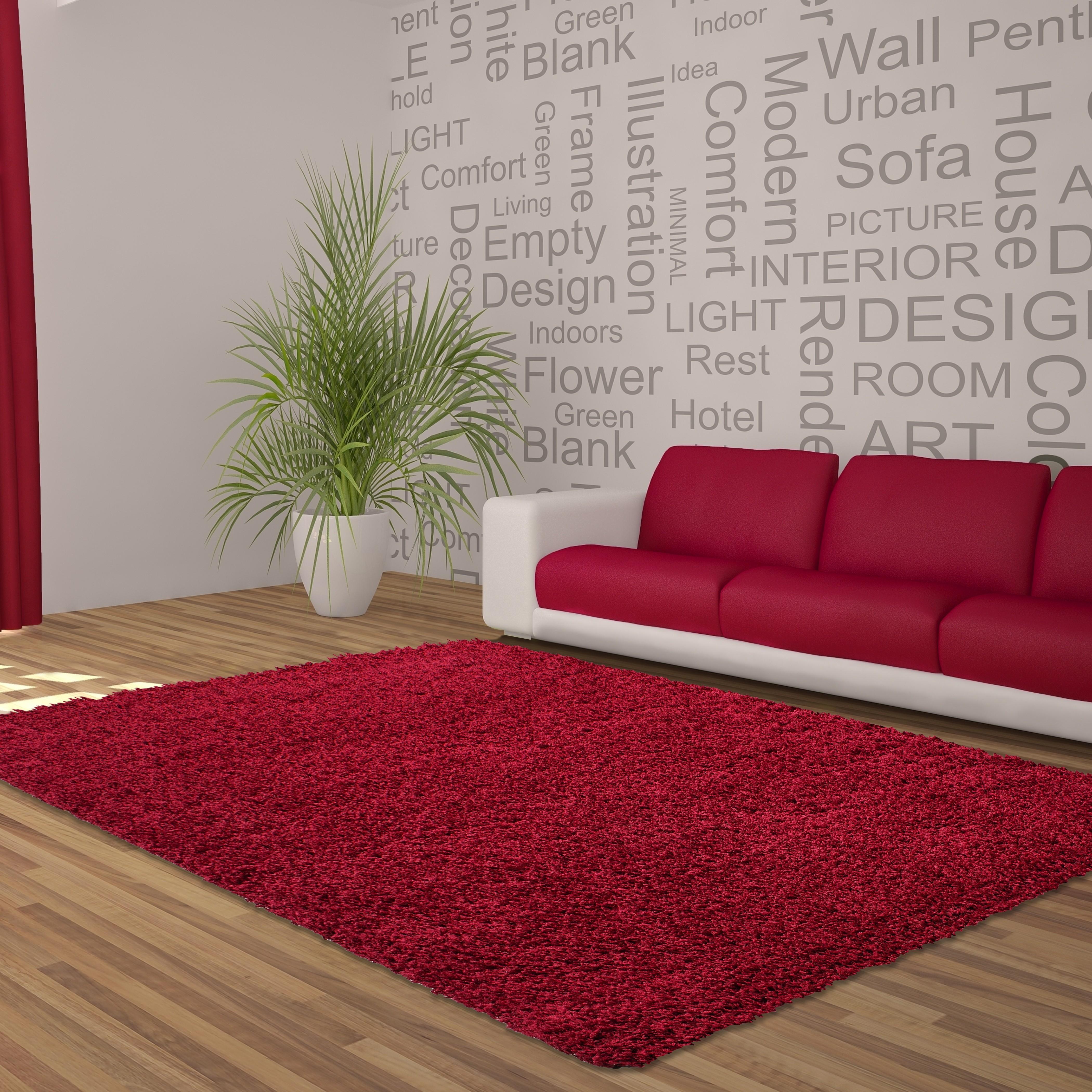 Tapis shaggy cream moderne tapis design uni en polypropylène VASCO