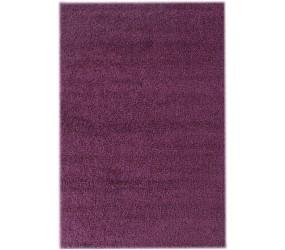 Tapis shaggy lila moderne tapis design uni en polypropylène VASCO