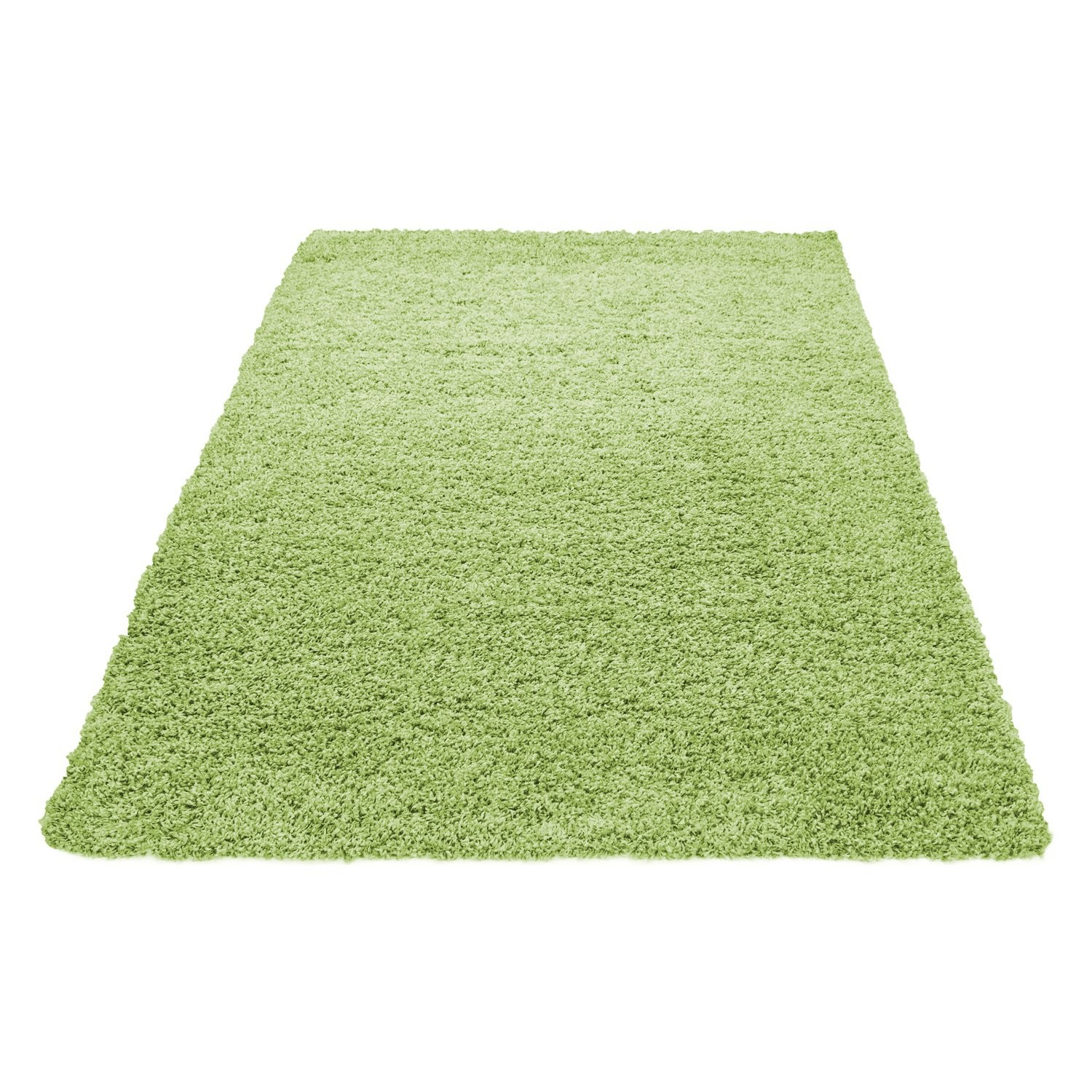 tapis shaggy vert moderne tapis design uni en. Black Bedroom Furniture Sets. Home Design Ideas
